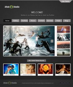Create a Stunning Web layout for Photographers in Photoshop Cs4