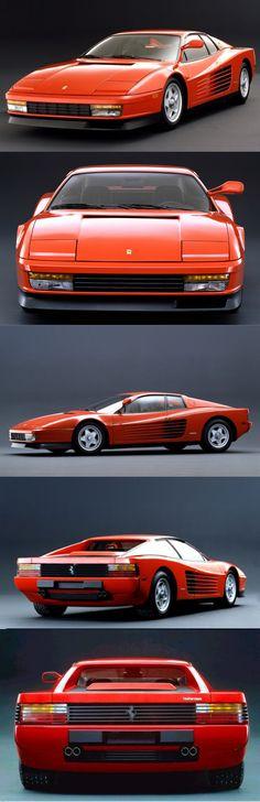 1984 Ferrari Testarossa, possibly my favourite Ferrari, but so wrong in Miami Vice white!