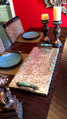 Handcrafted Decorative Metal Tray by................... CHIC METAL BY SHANNA LAVIN   https://www.etsy.com/shop/ChicMetalByShanna  https://www.facebook.com/ChicMetalByShanna