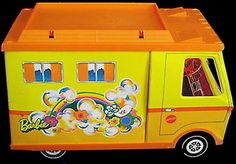 70s barbie camper! My first; later had the GMC version. Loved the back table pop-up addition!
