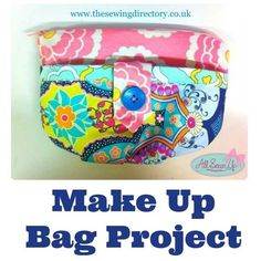 Make up bag sewing pattern
