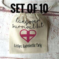 Bachelorette Party Favor - Bachelotette Party - Hangover Survival Kit  - Bridesmaid Gift - Unique Party Favor