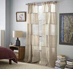 West Elm Linen Curtains | My gorgeous dining room window dressings.