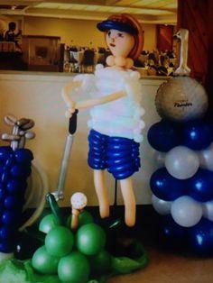 Women golf too! Party Ballons, Balloons, Women Golf, Ladies Golf, Balloon Arrangements, Golf Theme, Golf Party, Party Themes, Balloon Ideas
