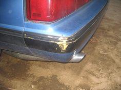 Minor Damage to Rear Bumper