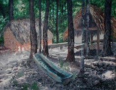 Image detail for -Creek Indian Village Painting by Beth Parrish - Alabama Creek Indian ...