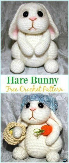 Amigurumi Crochet Hare Bunny Free Pattern - #Crochet; Amigurumi #Bunny; Toy Softies Free Patterns