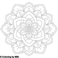 Flower Mandala Coloring Page 249