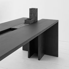Modern Furniture // dark wood table / desk // fausto mazza / Studio