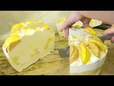 Cutting my New Lemon Lush Creme Silk Soap Cake by Edens Secret