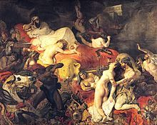 Title: The Death of Sardanapalus (1827 - 1844) By: Eugene Delacroix Location: Louvre