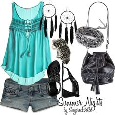 Summer Nights, created by sugareebelle.polyvore.com