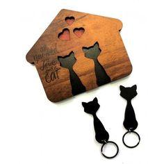 Porta chaves Home Cat by Santa Ana Design #catsdiydecoration