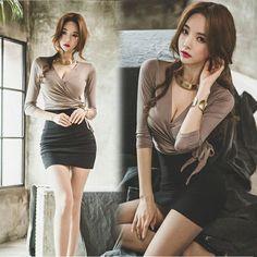 Pretty Korean Girls, Sexy Asian Girls, Korean Girl Fashion, Asian Fashion, Edgy Outfits, Fashion Outfits, Mein Style, Korean Dress, Beautiful Asian Women
