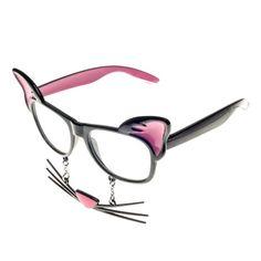 Novelty Cat Geek Glasses