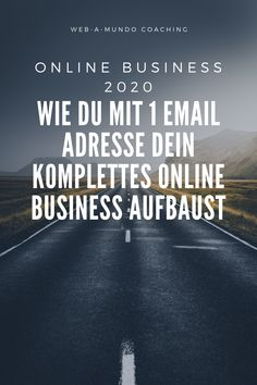 Online Business 2020 - Wie du mit 1 Email Adresse dein Komplettes Online Business aufbaust #onlinebusiness #erfolg #onlinebusinessaufbauen #onlinebusinessideen #coaching #coachingberatung Coaching, Influencer, Motivation, Content Marketing, Online Business, Website, Building, Counseling, Concept