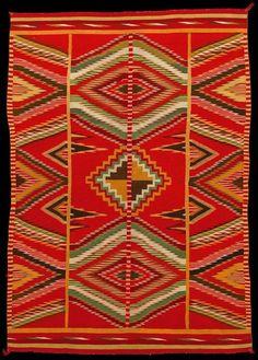 http://post-impressionisms.tumblr.com/ Eye-dazzler blanket, Artist unknown (Navajo), wool tapestry