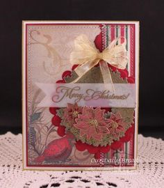 WT453 Poinsettia Wreath by cathymac - Cards and Paper Crafts at Splitcoaststampers