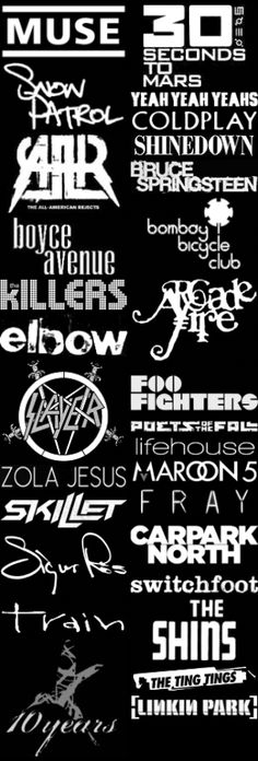 Recent 3 Months Fave Bands Logos (2012/04/29)