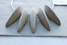Urban Tribe: Runway Ready CONCRETE Necklace on Stainless Steel Hoop  FREE domestic shipping. $68.00, via Etsy.