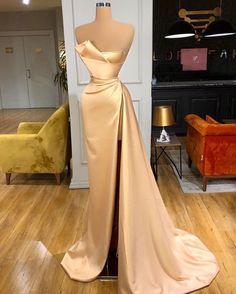 Pretty Prom Dresses, Glam Dresses, Event Dresses, Stunning Dresses, Beautiful Gowns, Cute Dresses, Fashion Dresses, Champagne Prom Dresses, Cocktail Vestidos