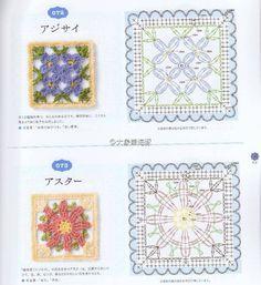 ЦВЕТОЧНЫЕ КВАДРАТНЫЕ МОТИВЫ.. Обсуждение на LiveInternet - Российский Сервис Онлайн-Дневников Crochet Flower Squares, Crochet Blocks, Granny Square Crochet Pattern, Crochet Diagram, Crochet Chart, Crochet Granny, Diy Crochet, Crochet Stitches, Crochet Motif Patterns