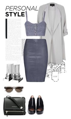 """728."" by irina-chechyotkina ❤ liked on Polyvore featuring Yves Saint Laurent, River Island, Jitrois, Robert Clergerie, Topshop, Givenchy and Eichholtz"