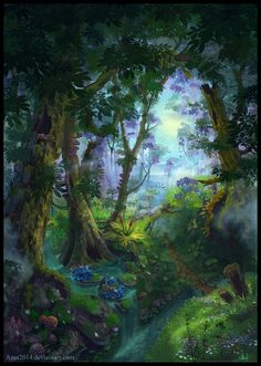 Summer Forest - book cover by Azot2014.deviantart.com on @DeviantArt