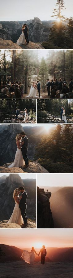 Yosemite National Park, California | Image by Erin & Geoffrey Photography #ILoveWeddings