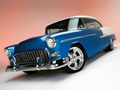 1955 Chevy Bel Air ~ This was my Dad's car, only ours was green and white.  I cried when he traded it in!