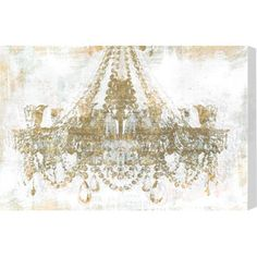 Gold Diamonds Canvas Print, Oliver Gal