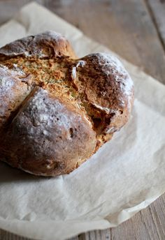 Soda bread ai semi di finocchio - Soda bread with fennel seeds