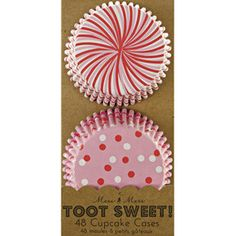 Toot Sweet Pink & Red Cupcake Cases