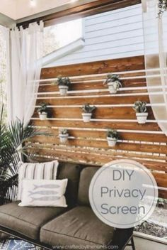 Love being outside but need a little more privacy in your life build this diy privacy screen and planter wall to create your backyard oasis. Everyone wants outdoor living goals! Outdoor Spaces, Outdoor Living, Rustic Outdoor Decor, Privacy Screen Outdoor, Backyard Privacy, Backyard Landscaping, Diy Terrasse, Types Of Furniture, Folding Furniture