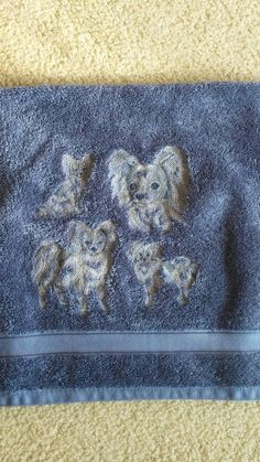 Lovely Pappilion Embroidered Hand Towel in by Fiddlestixprimitives