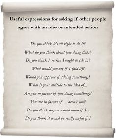 Learn Useful Expressions in English - Asking For Approval. - learn English,communication,vocabulary,english