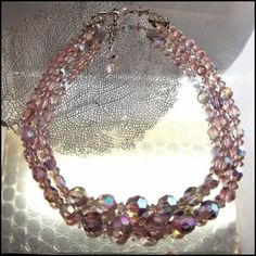 Austrian Crystal Vintage Necklace Lavender 2 Strands 1950s Jewelry   http://www.greatvintagejewelry.com/inc/sdetail/austrian-crystal-vintage-necklace-lavender-2-strands-1950s-jewelry-/17858