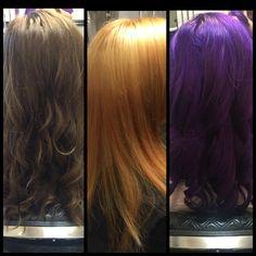 Violet hair (process) Hair Color Techniques, Violet Hair, Cut And Color, Hair Makeup, Hair Cuts, Long Hair Styles, Beauty, Design, Haircuts