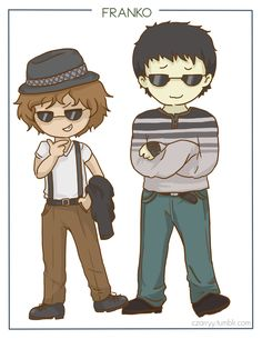 Franko BroShip ;) so realistic (sarcasm) Frank doesn't really like leo but it's nice to see them next to each other