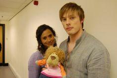 Merlin - Behind the Scenes - bradley-james and Angel