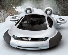 Hydrogen-Electric Hybrid Volkswagen Aqua Hovercraft...The epitome of VW coolness
