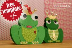 Free template: Frog gift box.