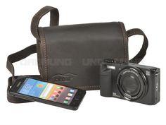 Kalahari KAAMA L-7 - Leder Fototasche XS Videotasche kleine Kameratasche - antikbraun 440507