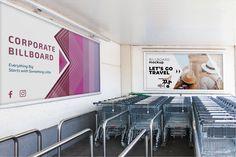 Billboard PSD Mockup for Advertising at Metro Stations - DesignHooks Billboard Mockup, Billboard Design, Empty Spaces, Metro Station, Advertising, Shopping Carts, Vectors, Design Ideas, Posters