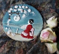 Portrait of a geisha #cookie, via Flickr. Amazing detail!