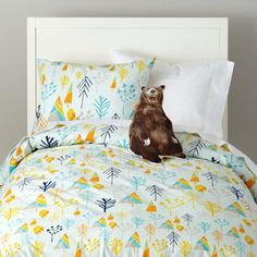 Kids Bedding: Forest Pattern Bedding Set - Twin Greater Outdoors Duvet Cover