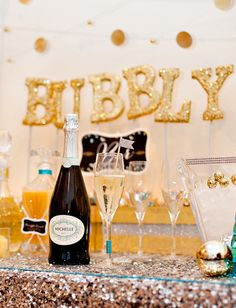 Sweet & Sparkly Bubbly Bar {New Years Eve}
