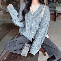 Korean Girl Fashion, Ulzzang Fashion, Korean Street Fashion, Asian Fashion, French Fashion, Ulzzang Girl, Kfashion Ulzzang, Korean Fashion Winter, Vintage Fashion
