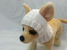 Mascota ropa ropa hecha a mano tejido Traje Con Capucha Y Nieve-Sombrero De Perro Pequeño Xxs Xs S