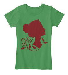 Women Art T Shirt Kelly Green  Women's T-Shirt Front